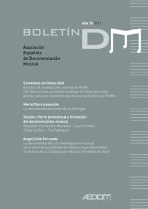 Boletín DM de AEDOM nº15 (2011)