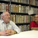 Juan Codina i Fernando Pelegrí, arxivers de la Societat Musical Instructiva Santa Cecília de Cullera