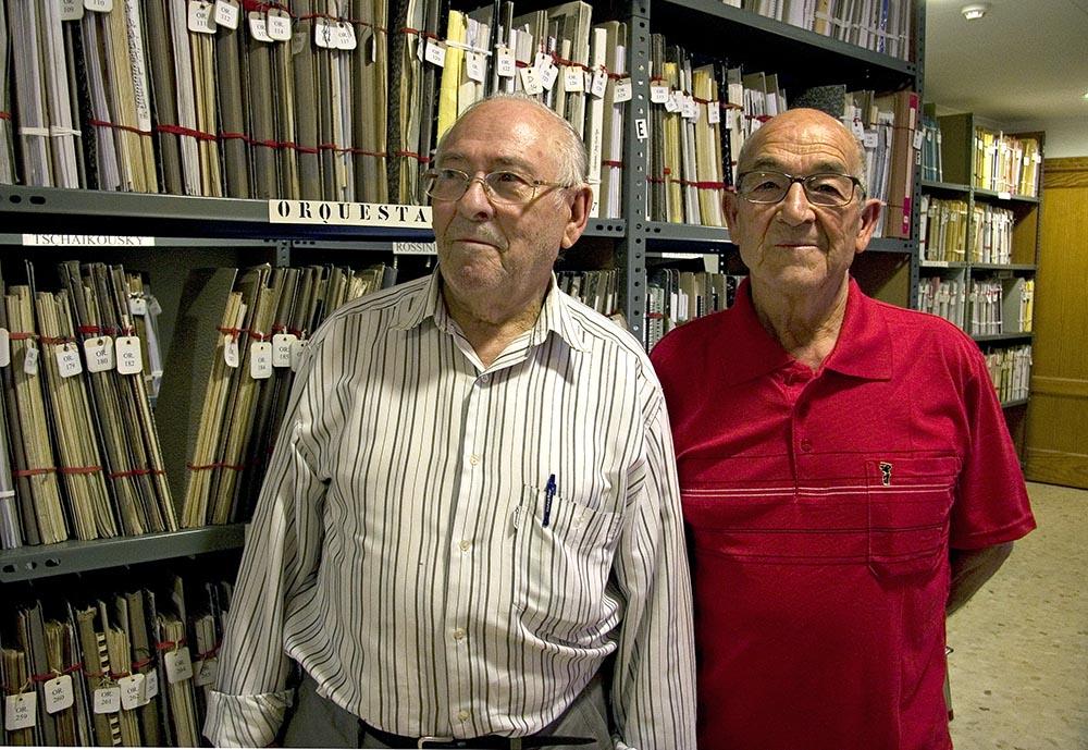 Juan Codina i Fernando Pelegrí a la Societa Musical Instructiva Santa Cecilia de Cullera