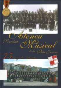 Societat ateneu musical de la Vila Joiosa: medalla de oro de la ciudad.
